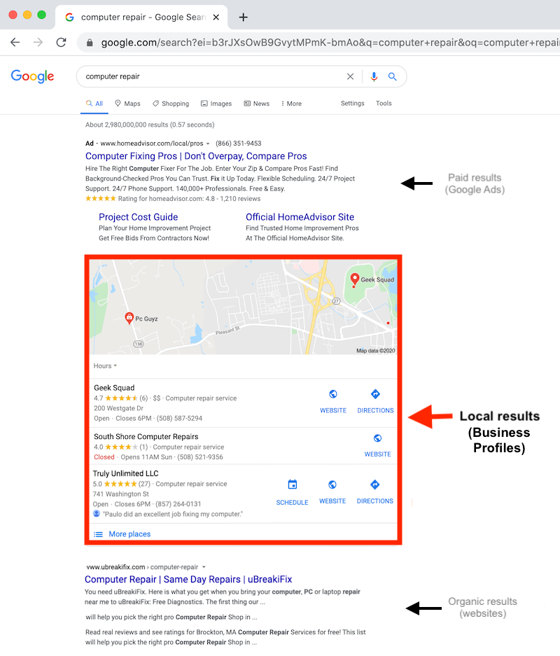what is google my business business profiles in search results web copy_1